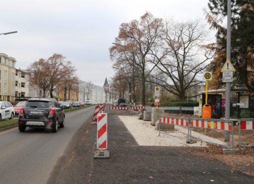 Kaiser-Wilhelm-Straße vor der Fertigstellung