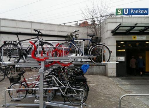 Doppelstock-Fahrrad-Parker