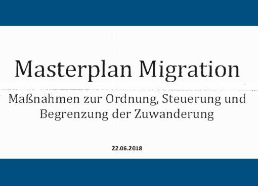Masterplan Migration - Fassung 22.6.2018