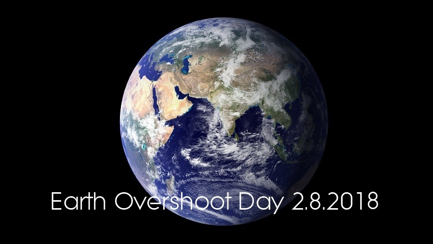 Earth Overshoot Day 2.August 2018
