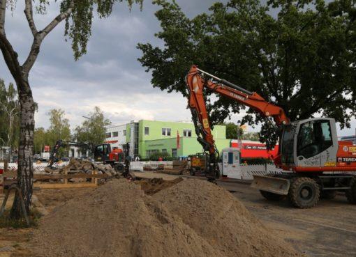 Rohrbruch: Baustelle Kamenzer Damm