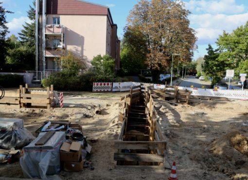 Rorhbruch-Baustelle Kamenzer Damm