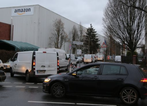 Amazon-Logistik mit Kleintransportern