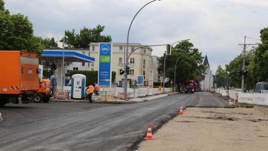 Asphaltbau Kaiser-Wilhelm-Straße