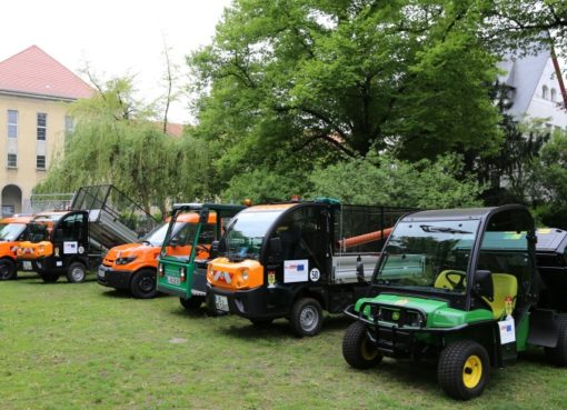 Grünflächenamt: Neue Elektro-Nutzfahrzeuge