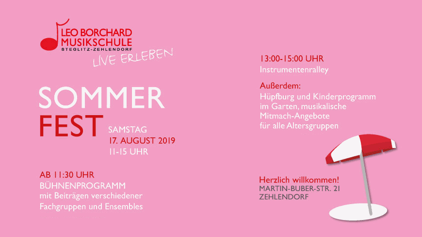 Sommerfest der Leo-Borchard-Musikschule