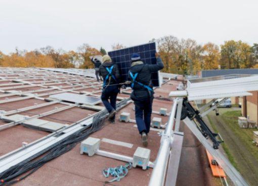 Montage der Solaranlage