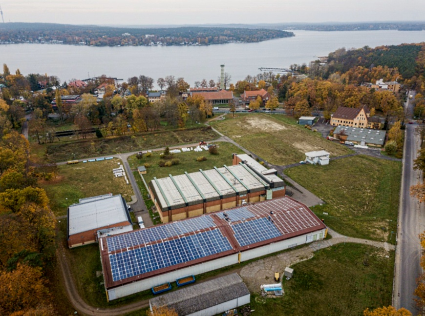 Neue Solaranlage der Berliner Stadtwerke