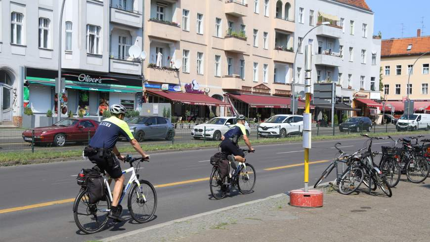 Fahrradstreife Polizei Berlin